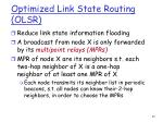 optimized link state routing olsr