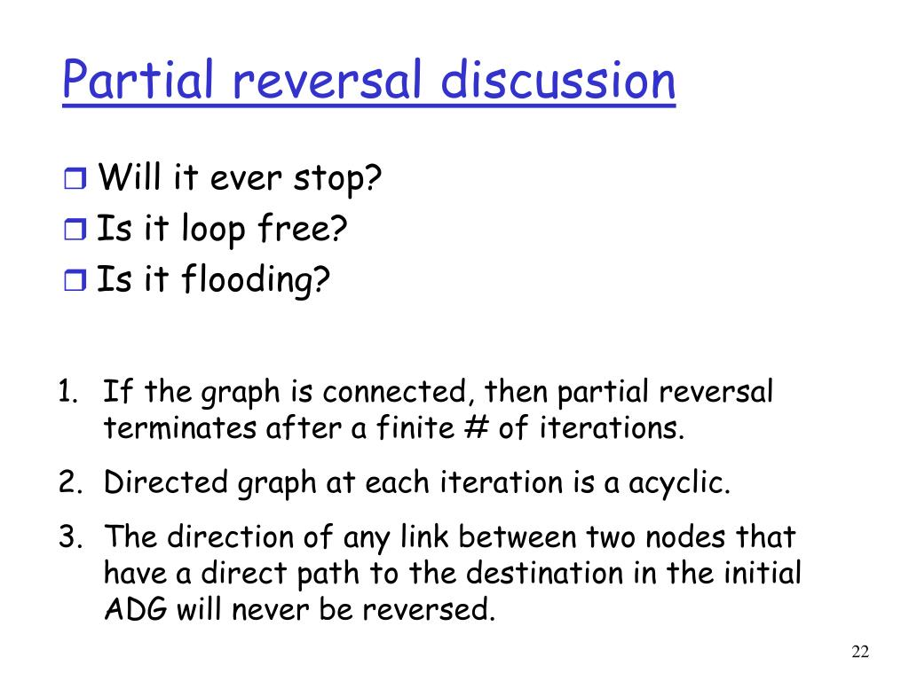 Partial reversal discussion