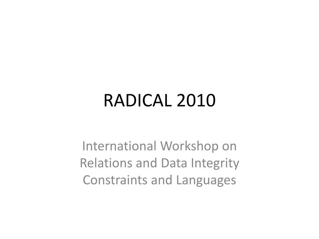 radical 2010 l.