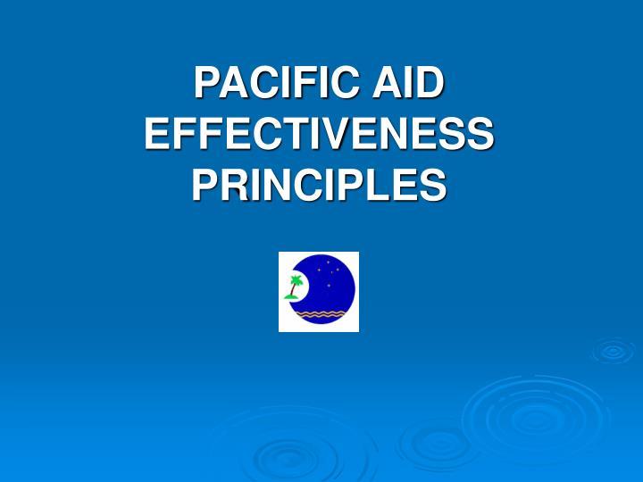 pacific aid effectiveness principles n.