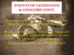 events of lexington concord cont