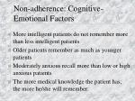 non adherence cognitive emotional factors1