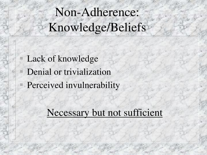 Non-Adherence: Knowledge/Beliefs