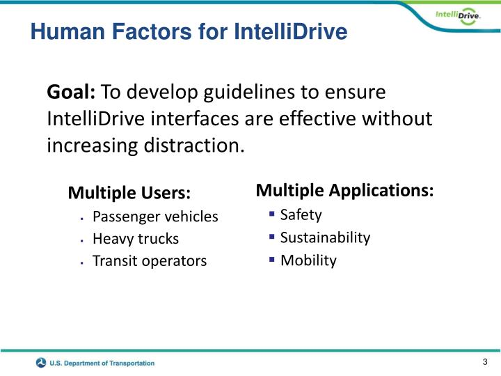 Human factors for intellidrive1