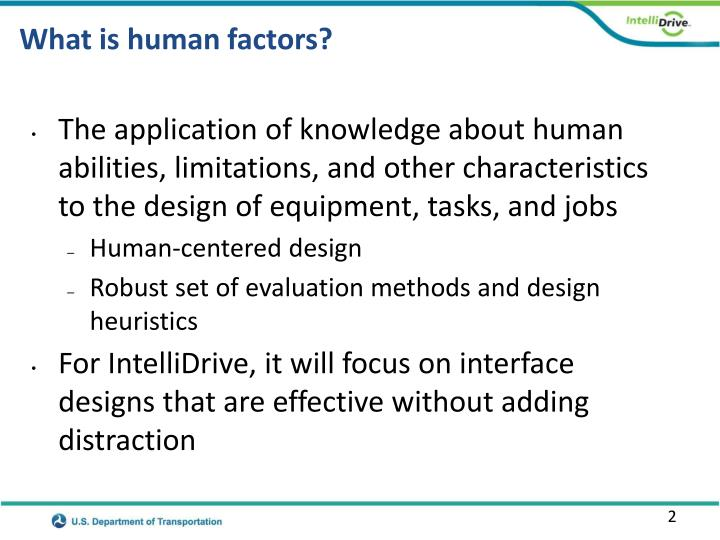 What is human factors