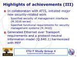highlights of achievements i ii