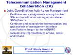 telecommunication management collaboration iv