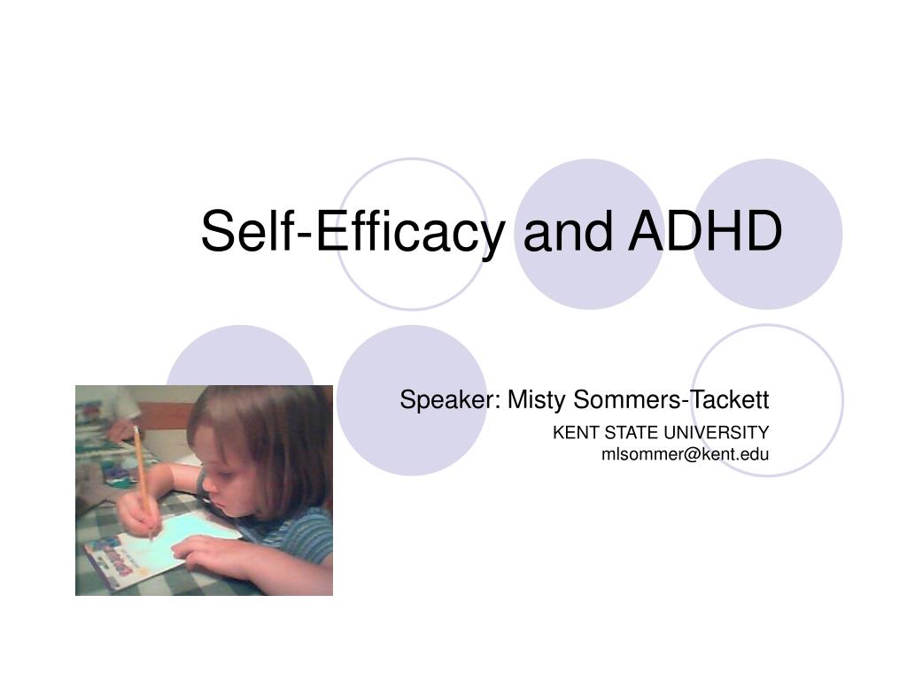 self efficacy and adhd l.
