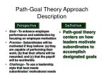 path goal theory approach description