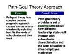 path goal theory approach