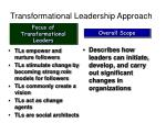 transformational leadership approach
