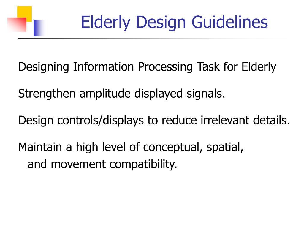 Elderly Design Guidelines