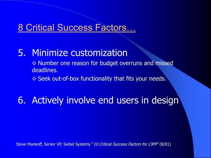 8 Critical Success Factors…