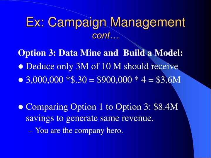 Ex: Campaign Management