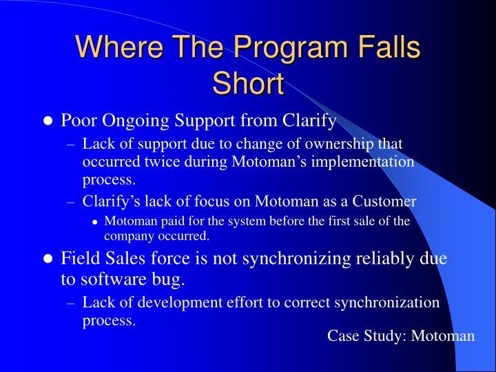 Where The Program Falls Short