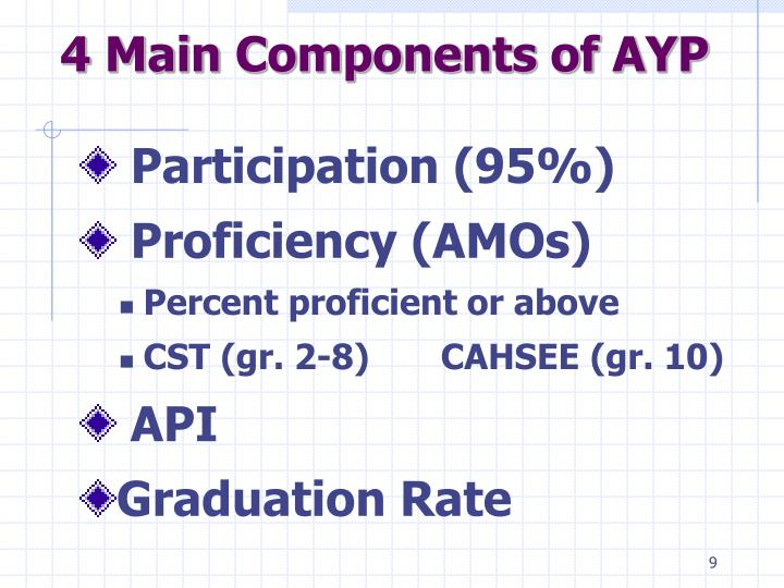 4 Main Components of AYP