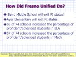 how did fresno unified do