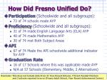 how did fresno unified do1