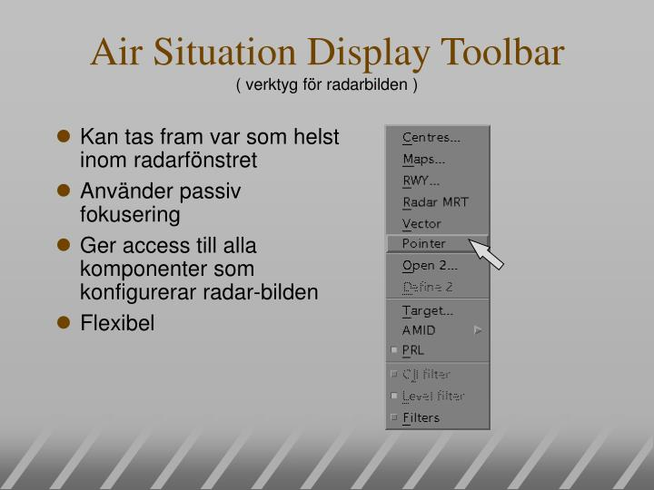 Air Situation Display Toolbar