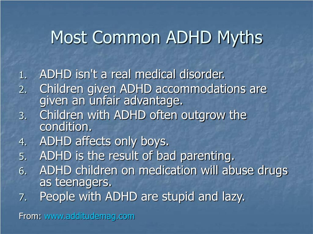Most Common ADHD Myths