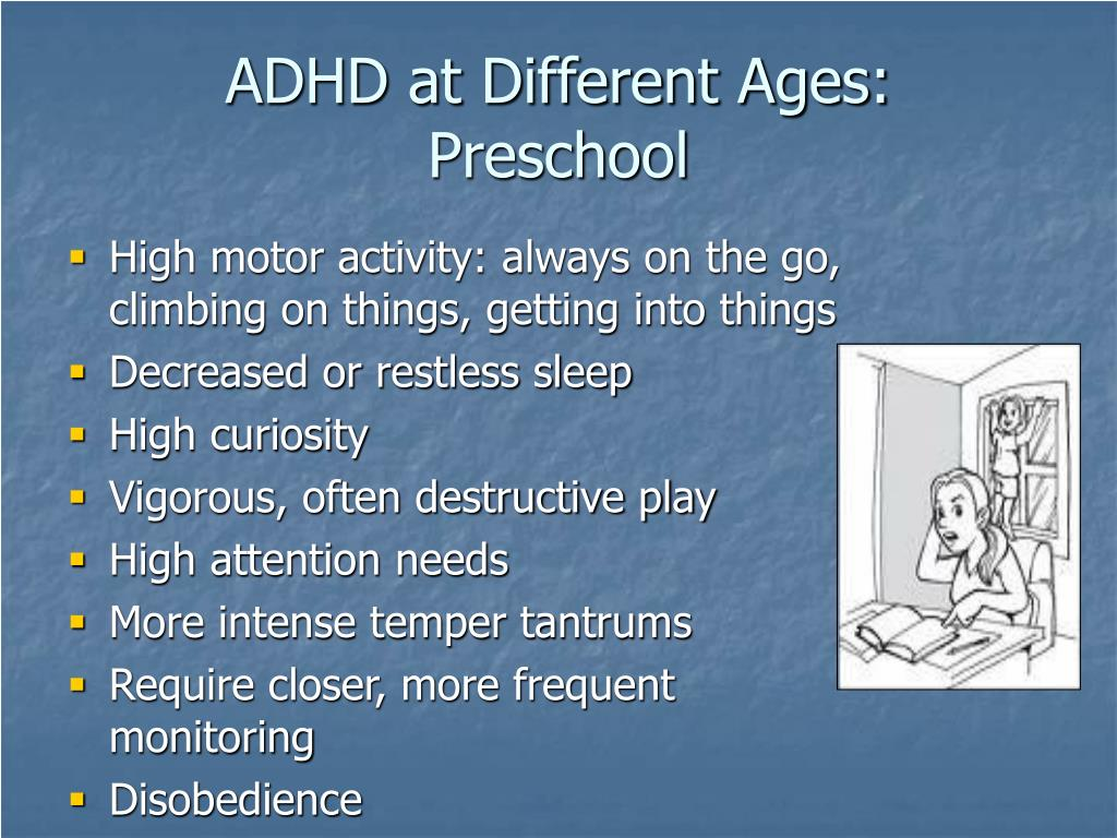 ADHD at Different Ages: