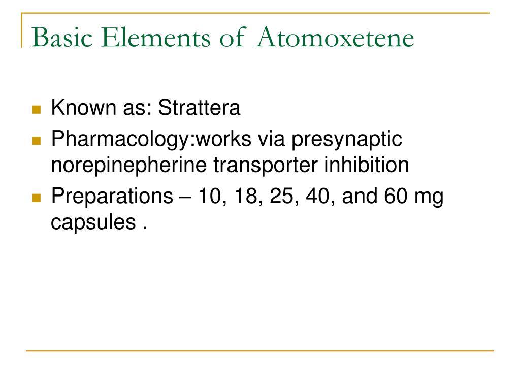 Basic Elements of Atomoxetene