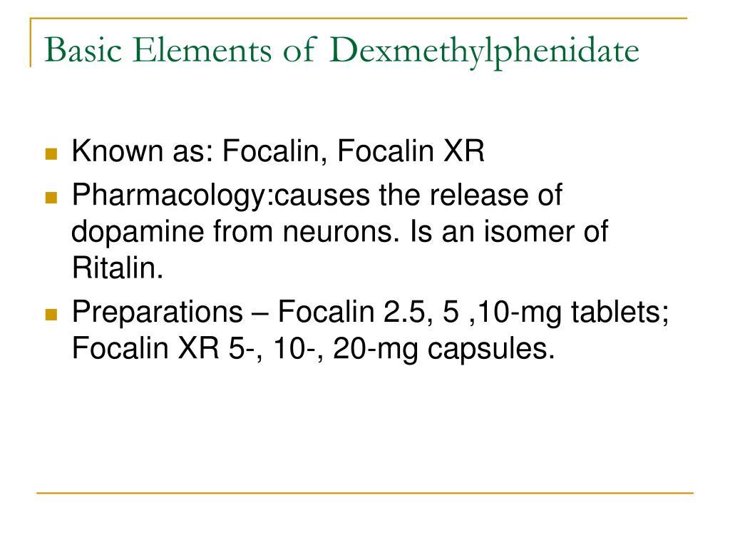 Basic Elements of Dexmethylphenidate