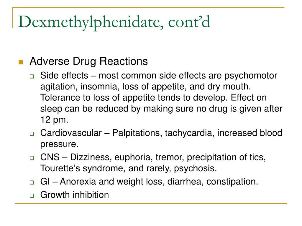 Dexmethylphenidate, cont'd
