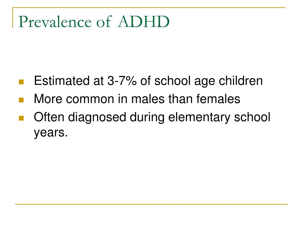 Prevalence of ADHD
