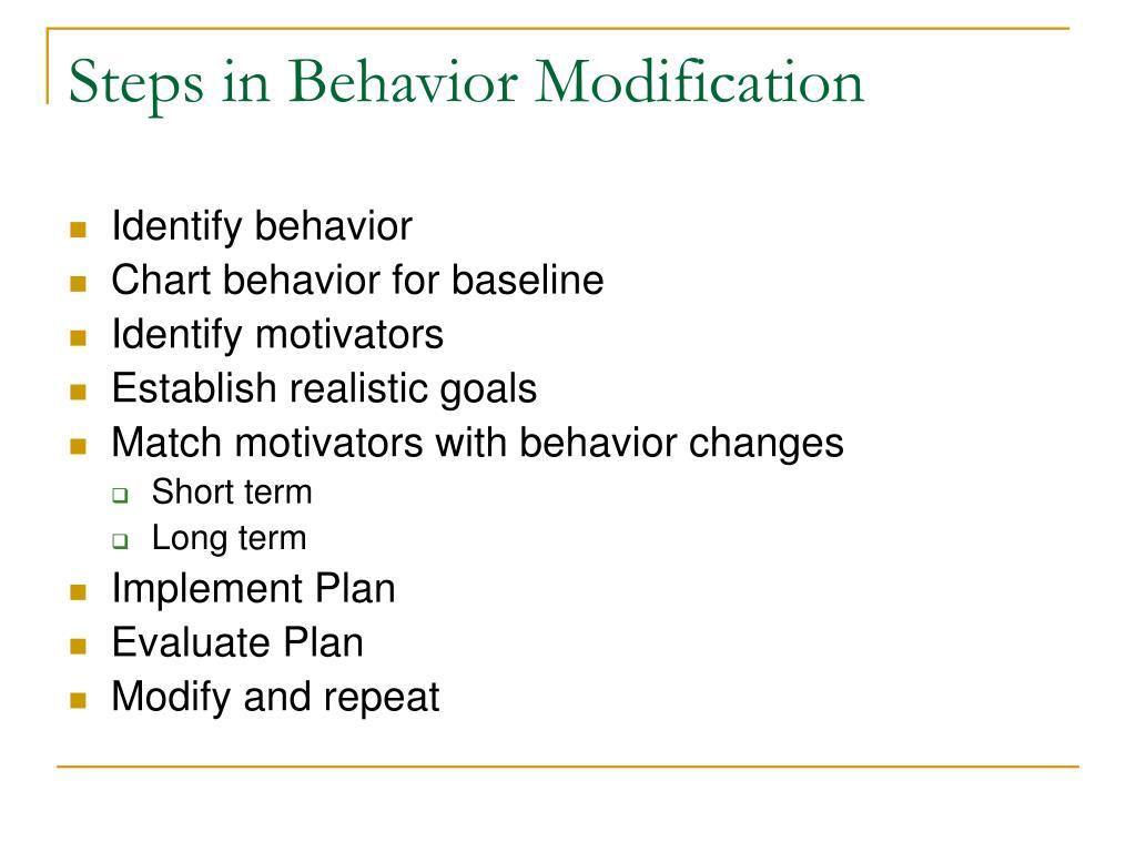 Steps in Behavior Modification