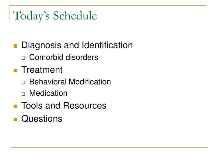 Today s schedule