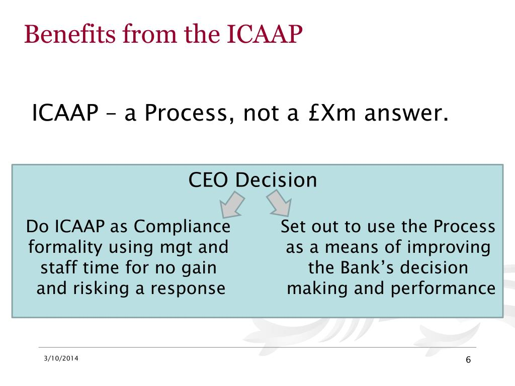 Benefits from the ICAAP