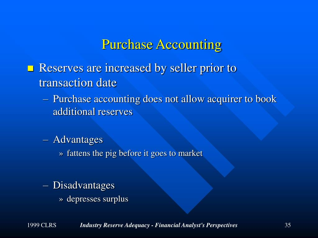 Purchase Accounting