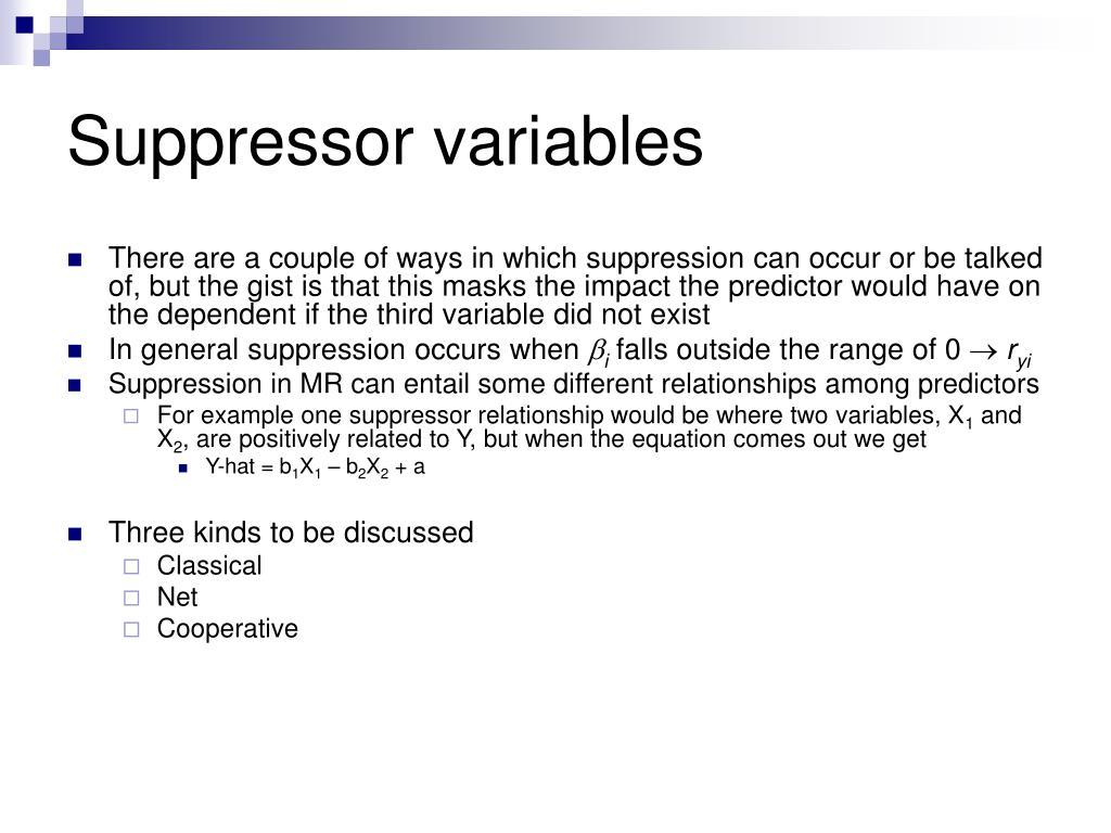 Suppressor variables