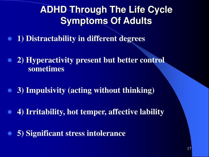ADHD Through The Life Cycle