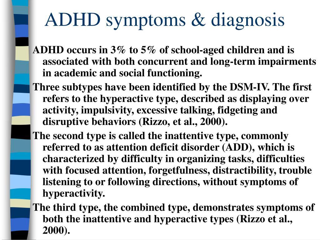 ADHD symptoms & diagnosis