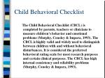 child behavioral checklist