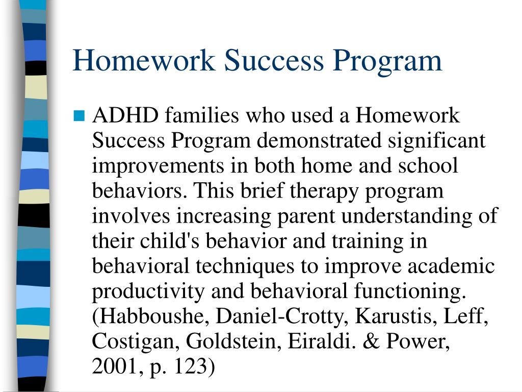 Homework Success Program