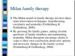 milan family therapy