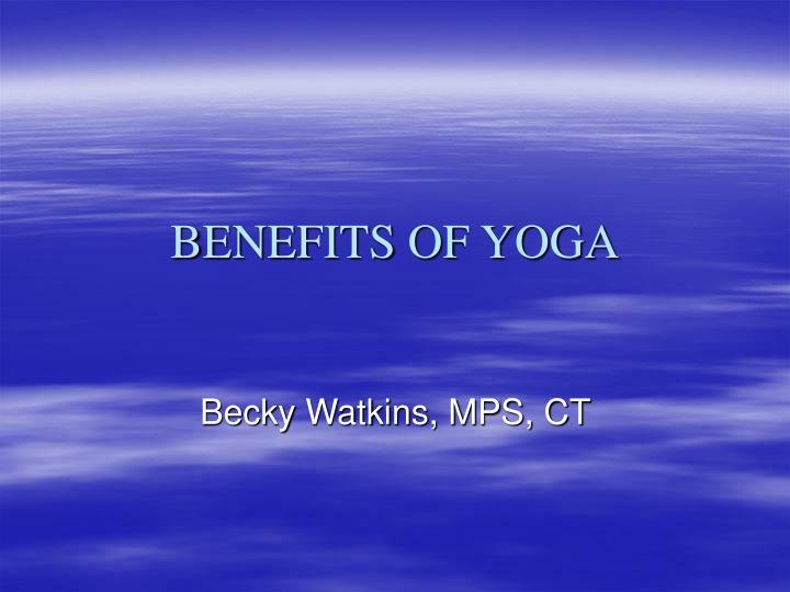 benefits of yoga n.
