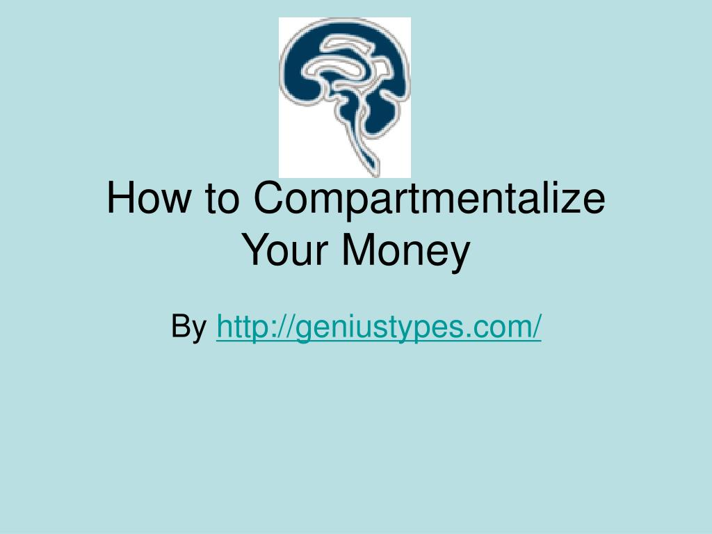how to compartmentalize your money l.