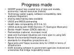 progress made