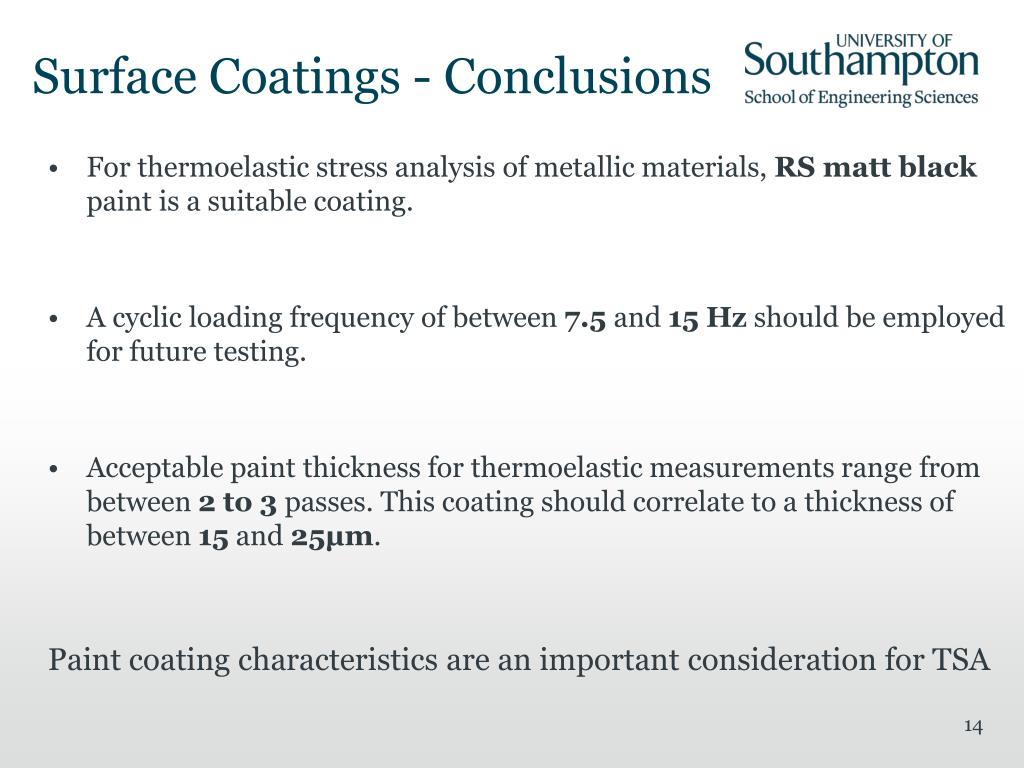 PPT - Paint Coating Characterisation for Thermoelastic