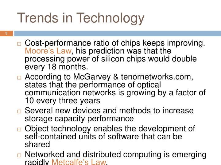 Trends in technology1