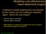 modelling cost effectiveness lower abdominal surgery