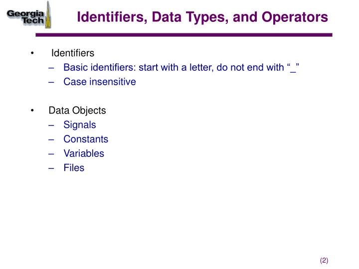 Identifiers data types and operators1