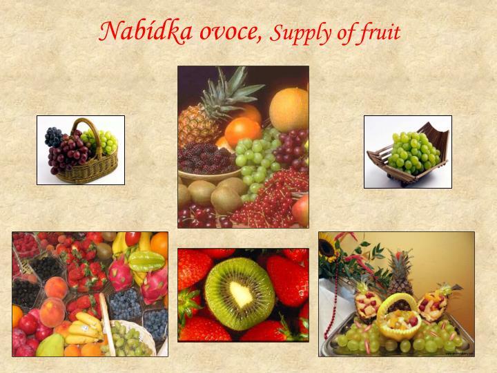 Nabídka ovoce,