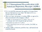 11 5 international diversification with american depository receipts adrs
