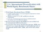 11 6 international diversification with world equity benchmark shares