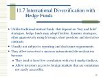 11 7 international diversification with hedge funds